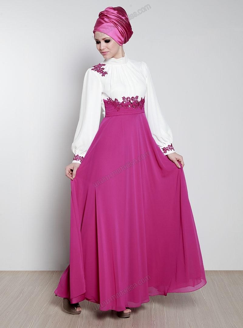 جديد تصميمات فساتين محجبات تركية صيف 2014 – Arab Fashion